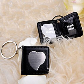 Black Aspen Leather Keyring/Photo Frame