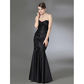 Trumpet/ Mermaid Sweetheart Floor-length Satin Evening Dress