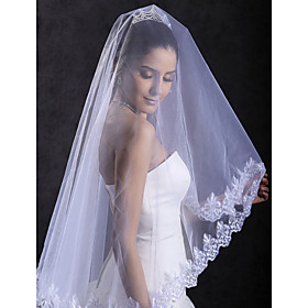 1 Layer Cathedral Wedding Veil (1082-TS319)
