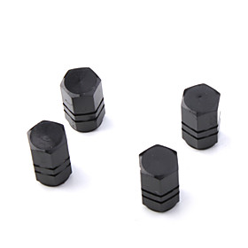 Luxury Tire Valves Caps/Stems - Black(4 Pieces Per Pack)