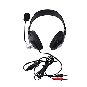 Yoro Stereo Headphone Microphone Headset (Black)