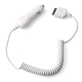 Car Charger For iPhone/iPad/iPod With Coiled Cable