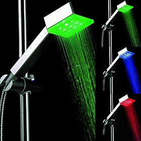 Color Changing LED Hand Shower - Chrome Finish
