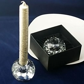 Glittering Crystal Ball Candle Holder in Gift Box