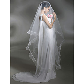 1 Layer Cathedral Length Wedding Veil (TS037)