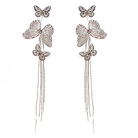 Beautiful Alloy With Rhodium Plated Earrings