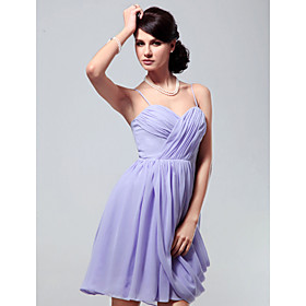 Chiffon A-line Spaghetti Straps Short/ Mini Cocktail Dress inspired by Taylor Swift