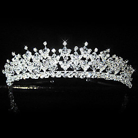 Beautiful Alloy With Rhinestones Bridal Tiara