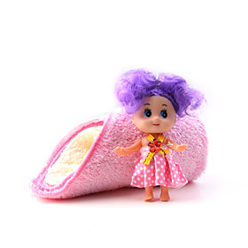 Cute Little Girl Doll Wrapped Roll-Up Cotton Towel