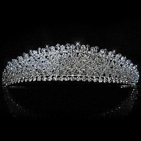 Gorgeous Alloy With Rhinestones Bridal Tiara/ Headpiece