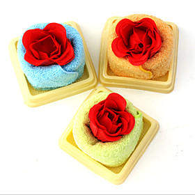 Romantic Shower Perfume Red Rose Towel Washcloth Gift