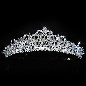 Alloy With Rhinestones Wedding Bridal Tiara