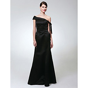 Trumpet/ Mermaid Off-the-shoulder Floor-length Satin Evening Dress