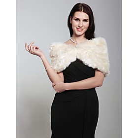 Faux Fur Wedding/ Party/ Evening Shawl More Colors Available