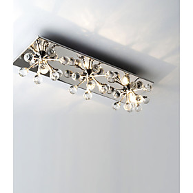 K9 Crystal Flush Mount with 3 lights in Square
