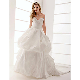 Ball Gown Strapless Sweep/ Brush Train Sex and the City Wedding Dress
