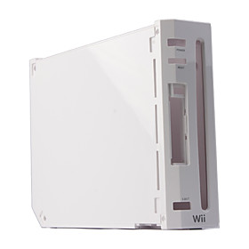 Replacement Shell Housing Case for Wii Console (White)