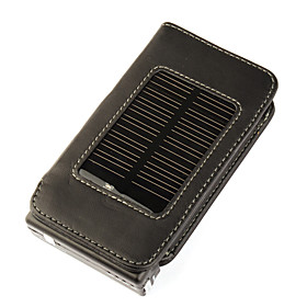 Solar Powered Leather Case for Apple iPhone 3G/3GS