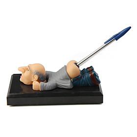 Funny Old Grandpa Design Pen Holder