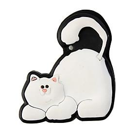 Fridge/Bookmark Magnet PVC Cat White FREE SHIPPING