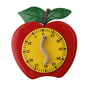 Kitchen Timer Cute Apple With Worm FREE SHIPPING