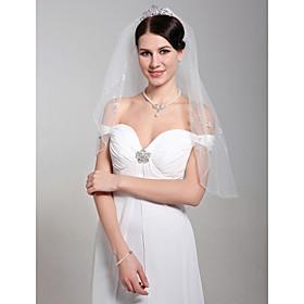 Beautiful Two Layers Elbow Wedding Veil