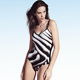 Polyester Halter One Pieces   Monokinis Swimwear