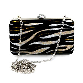 Gorgeous Velvet With Glitter Evening Handbags/ Clutches