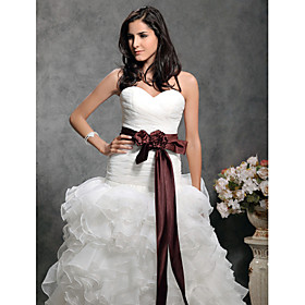 Long Elastic Satin Wedding/ Bridal Ribbon Sash