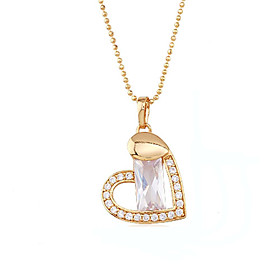 Fashion CZ Cubic Zirconia And Brass With 18K Gold Plated Pendant