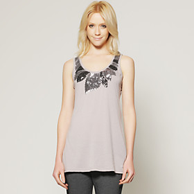 TS Floral Jewel Embellished Tank Shirt