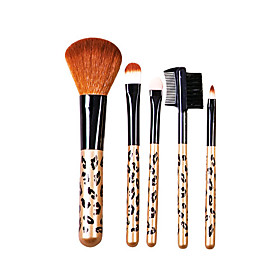 5 Pcs Wool Makeup Brush Set