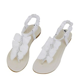 wholesale Leatherette Upper Flats With Rhinestone Casual/ Honeymoon Shoes(0987-FANSS F4-6)