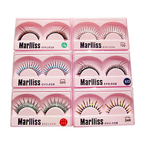 Mixed 10 Pairs Fancy Fashion False Eyelash
