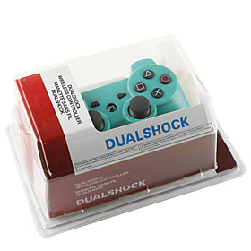 Rechargeable USB DualShock 3 Wireless Controller for Playstation 3/PS3 (Green)