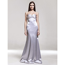 Jenny Empire Sweetheart Floor-length Satin Evening/Gossip Girl Fashion Dress (FSD0283)