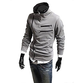 Classic Style Men Slim Fit Sexy Long Zipper Hooded Jackets with Long Sleeve Multi Color Available