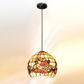 10 Inch Tiffany-style Cylindrical shapeNatural shell Material Pendant Light (0835-D8021)