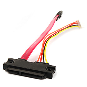 SATA 7 15P Female to SATA 7 4P Cable