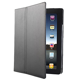 Protective Hard Leather Case and Stand for Apple iPad 2 2nd Generation(Black)