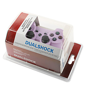 Rechargeable USB DualShock 3 Wireless Controller for Playstation 3/PS3 (Purple)