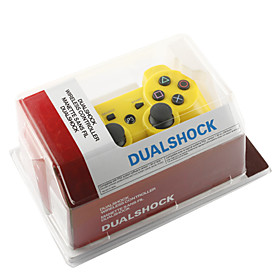 Rechargeable USB DualShock 3 Wireless Controller for Playstation 3/PS3 (Yellow)
