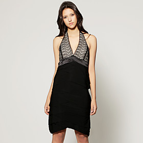 TS Halter Lace Dress