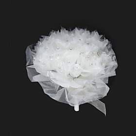 Elegant Organza With Rhinestone Round Wedding Bouquet/ Bridal Bouquet
