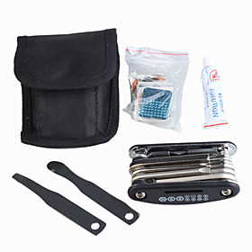 Bicycle Repair Tool   Puncture Repair Kit   Nylon Storage Pouch
