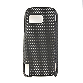 Mesh Hard Back Cover Case for Nokia 5800 Black
