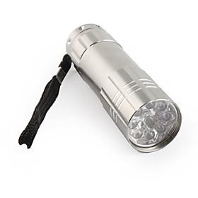 FX-709B 9 LED Mini Flashlight 3XAAA Gray