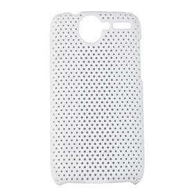 Mesh Hard Back Cover Case for HTC Desier HD White