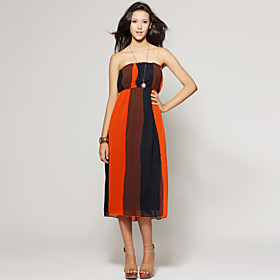 Color Splice Strapless Dress / Women's Dresses (FF-W-CC0026002)