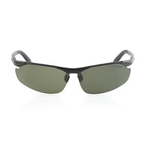 HongLang UV400 Polarized Glare-Guard TAC Alloy Lens Magaluma Frame Driving Sunglasses(Invisible Gree